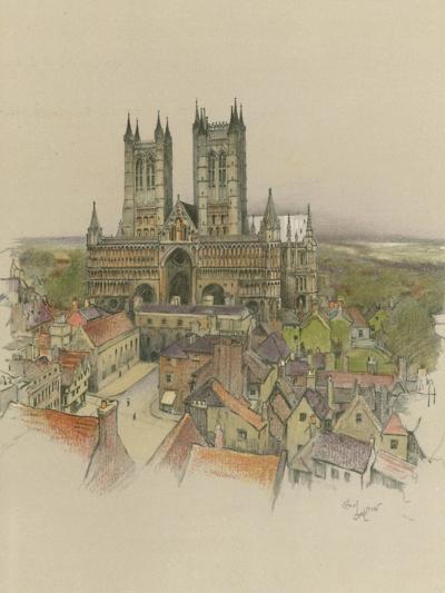Lincoln Cathedral-Cecil Aldin-Giclee Print