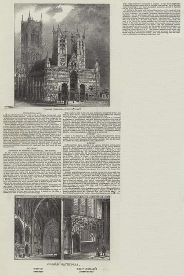 Lincoln Cathedral--Giclee Print