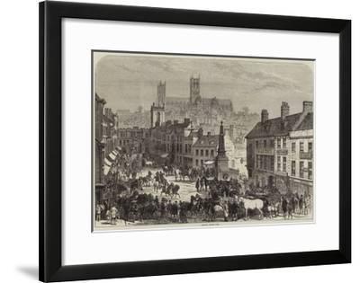 Lincoln Horse Fair--Framed Giclee Print