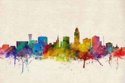 Lincoln Nebraska Skyline-Michael Tompsett-Art Print