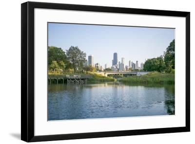 Lincoln Park Bridge-NjR Photos-Framed Giclee Print