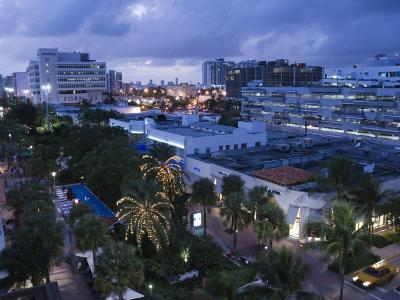 Lincoln Road Pedestrian Area, South Beach, Miami Beach, Florida, USA-Walter Bibikow-Photographic Print
