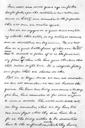 graphic regarding Gettysburg Address Printable named Lincolns Gettysburg Include Giclee Print through