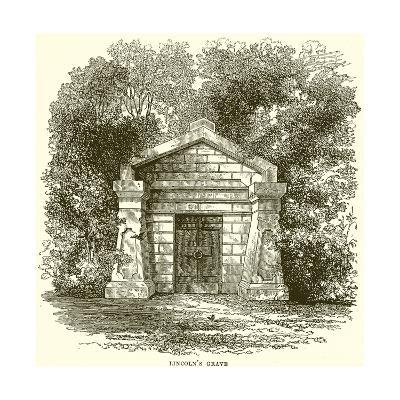 Lincoln's Grave--Giclee Print