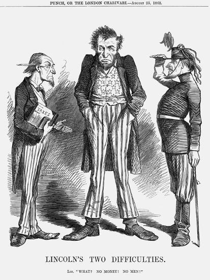 Lincoln's Two Difficulties, 1862--Giclee Print