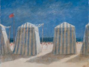Beach Tents, Brittany, 2012 by Lincoln Seligman