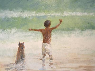 Boy and Dog, Lifeguard