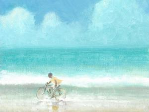Boy on Bicycle by Lincoln Seligman