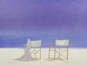 Chairs on the Beach, 1995 by Lincoln Seligman