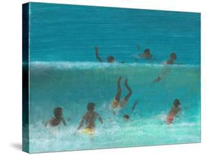 Children in the Surf, 2015 by Lincoln Seligman