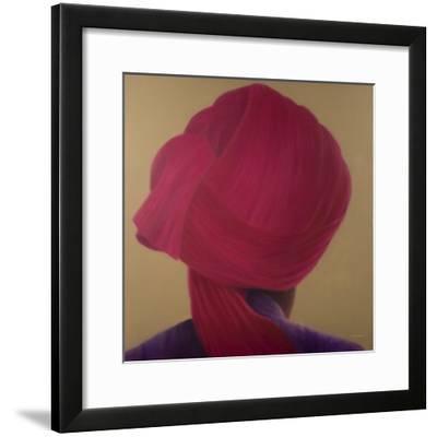 Deep Red Turban, Purple Jacket