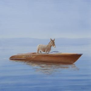 Donkey in a Riva, 2010 by Lincoln Seligman