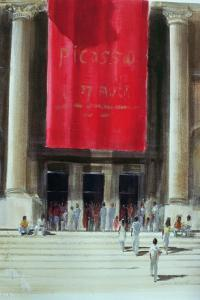 Entrance to the Metropolitan Museum, New York City, 1990 by Lincoln Seligman