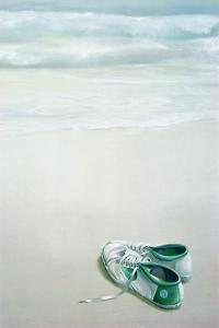 Gym Shoes on Beach by Lincoln Seligman