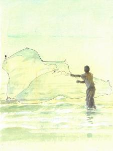 Lone Fisherman 2, 2015 by Lincoln Seligman
