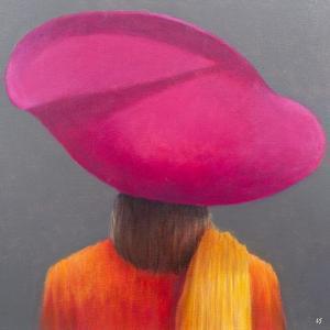 Magenta Hat, Saffron Jacket, 2014 by Lincoln Seligman