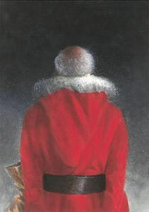 Man in Red Coat (Back View), 2004 by Lincoln Seligman