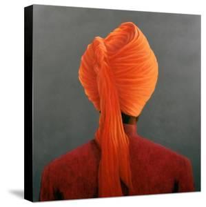 Orange Turban by Lincoln Seligman