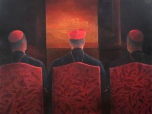 Three Cardinals, 2012 by Lincoln Seligman