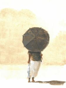 Umbrella and Fish 2, 2015 by Lincoln Seligman