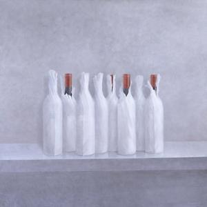 Wrapped Bottles on Grey, 2005 by Lincoln Seligman