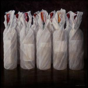 Wrapped Wine Bottles, 2010 by Lincoln Seligman
