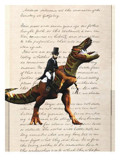 Lincoln T Rex-Matt Dinniman-Art Print