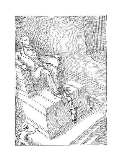 Lincolns shoelaces - Cartoon-John O'brien-Premium Giclee Print