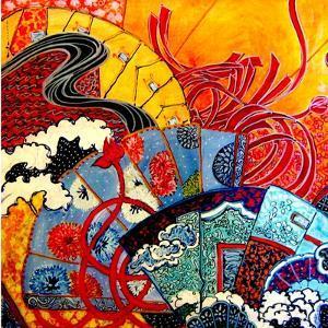 Oriental Fans by Linda Arthurs