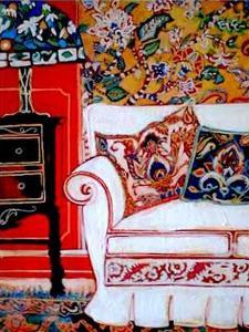 White couch by Linda Arthurs