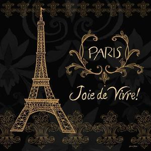 Elegant Paris Gold Square III by Linda Baliko