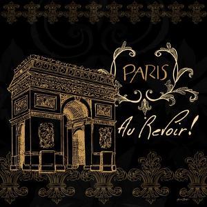 Elegant Paris Gold Square IV by Linda Baliko