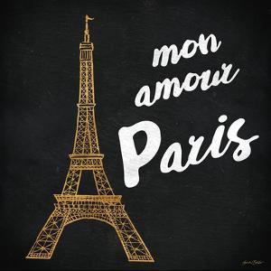 Mon Paris Gold I by Linda Baliko