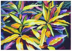 Tropical Leaves by Linda Bastian