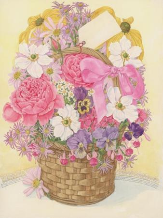Basket of Flowers, 1995 by Linda Benton