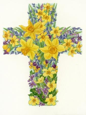 Floral Cross I, 1998 by Linda Benton