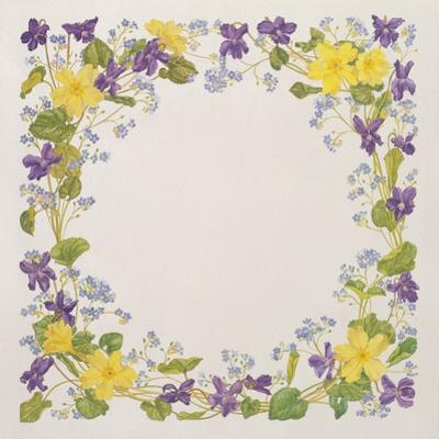 Primrose and Violet Square by Linda Benton