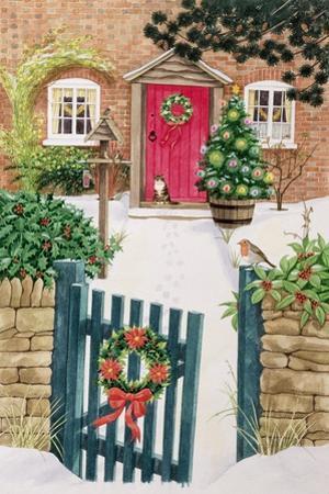 Snowy Front Garden by Linda Benton