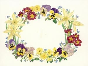 Spring Flower Oval, 1995 by Linda Benton