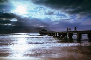 Hanalei Bay Pier. by Linda Ching