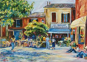 Rousillion Cafe by Linda Lee