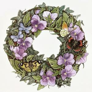 Violas and Butterflies by Linda Ravenscroft