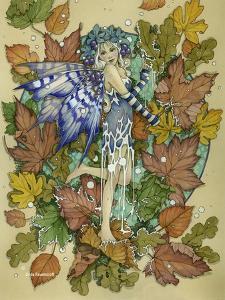 Winter Leaf Fairy by Linda Ravenscroft