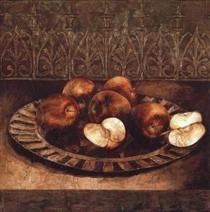 Apples on a Charger by Linda Thompson