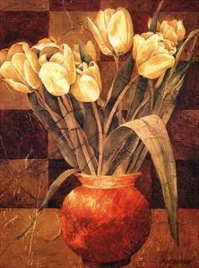 Checkered Tulips I by Linda Thompson