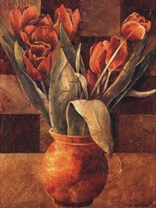Checkered Tulips II by Linda Thompson