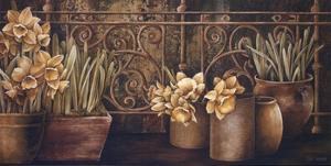 Ironwork with Daffodils by Linda Thompson