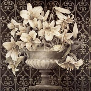 Lilies in Urn by Linda Thompson