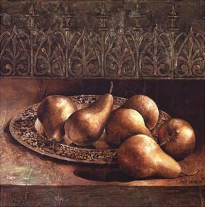 Pears on a Platter by Linda Thompson