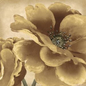 Golden Peony I by Linda Wood